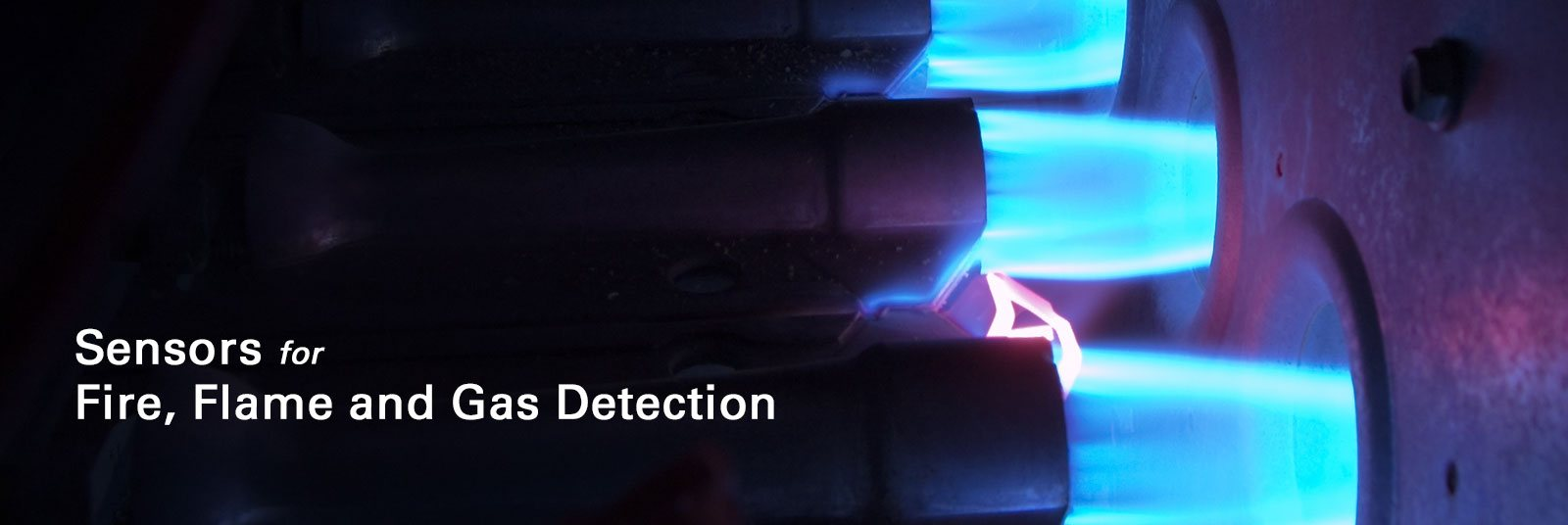 Sensors for fire, flame and gas detection.